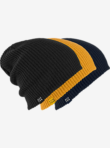 Burton DND Beanie 3-Pack shown in True Black / Flashback / Eclipse