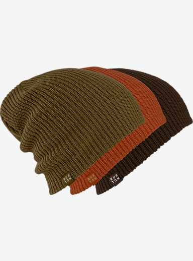 Burton DND Beanie 3-Pack shown in Fir / Picante / Mocha