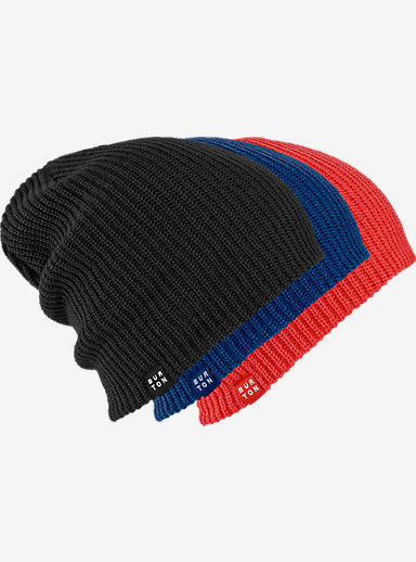 Burton DND Beanie 3-Pack shown in True Black / Scuba / Coral