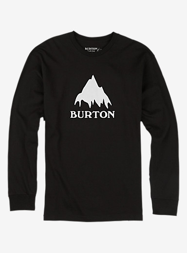 Burton Classic Mountain Long Sleeve T Shirt shown in True Black