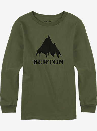 Burton Classic Mountain Long Sleeve T Shirt shown in Olive Branch