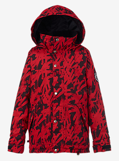 Burton Boys' Fray Jacket shown in Process Red Hashtag