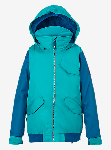 Burton Girls' Twist Bomber Jacket shown in Everglade / Athens