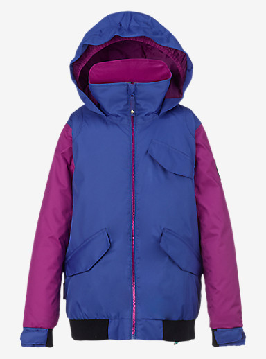 Burton Girls' Twist Bomber Jacket shown in Sorcerer / Grapeseed