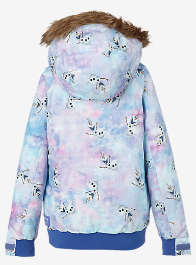 Disney Frozen Girls' Twist Bomber Jacket shown in Olaf Frozen Print © Disney