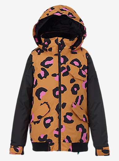 Burton Girls' Twist Bomber Jacket shown in Sqshed S Lprd / True Black