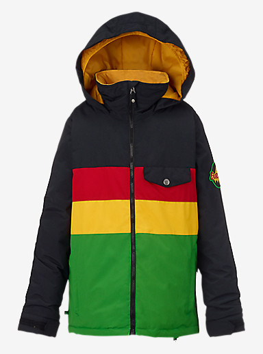 Burton Boys' Symbol Jacket shown in Rasta