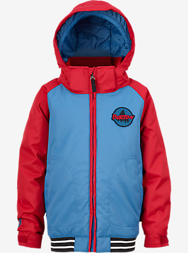 Burton Boys' Minishred Game Day Jacket shown in Glacier Blue / Process Red