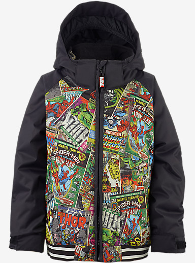 Marvel® x Burton Boys' Minishred Game Day Jacket shown in Marvel / True Black © 2016 MARVEL