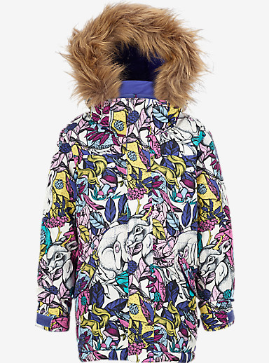 Burton Girls' Minishred Aubrey Jacket shown in Animalia