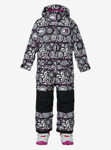 Burton Girls' Minishred Illusion One Piece shown in Sun Doodle