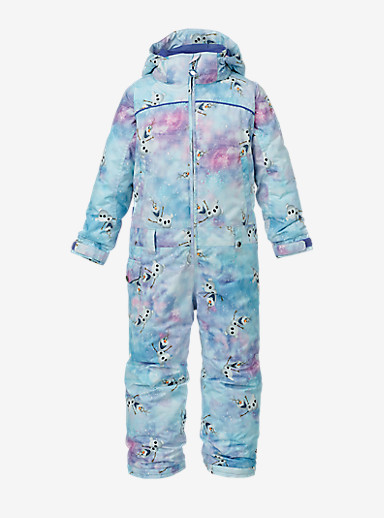 Disney Frozen Girls' Minishred Illusion One Piece shown in Olaf Frozen Print © Disney