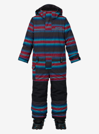 Burton Boys' Minishred Striker One Piece shown in Seaside Stripe