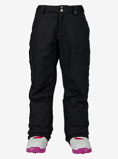 Burton Girls' Elite Cargo Pant shown in True Black