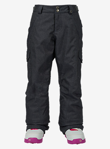 Burton Girls' Elite Cargo Pant shown in Denim