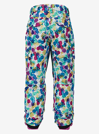 Burton Girls' Elite Cargo Pant shown in Rainbow Drops