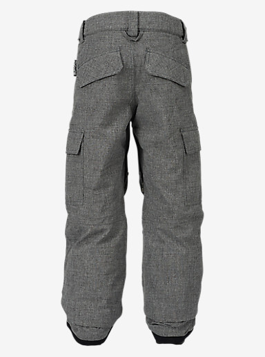 Burton Boys' Exile Cargo Pant shown in Heather Iron Gray