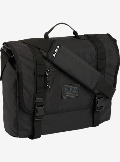 Burton Flint Messenger Bag shown in True Black Triple Ripstop
