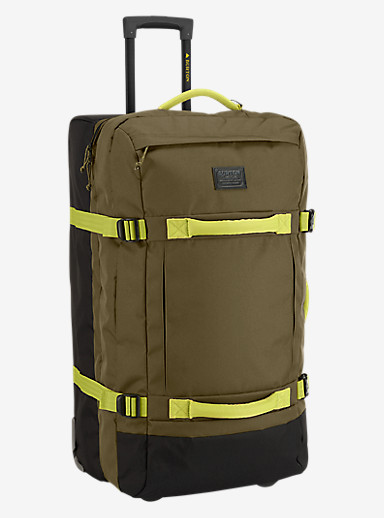 Burton Exodus Roller Travel Bag shown in Jungle [bluesign® Approved]