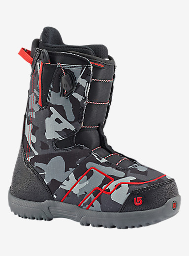 Burton AMB Smalls Snowboard Boot shown in Black / Red