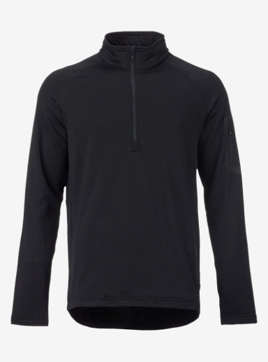 Burton [ak] Grid Half-Zip shown in True Black