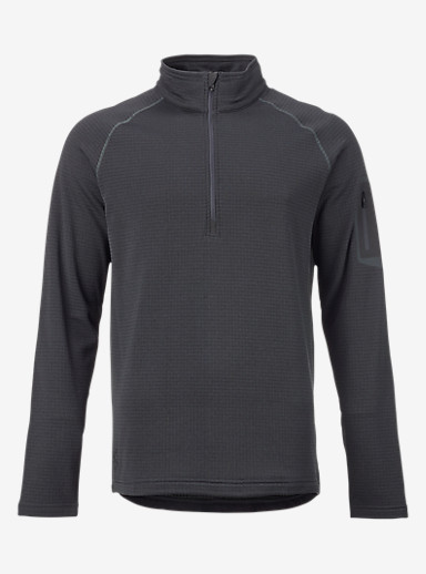 Burton [ak] Grid Half-Zip shown in Faded Heather