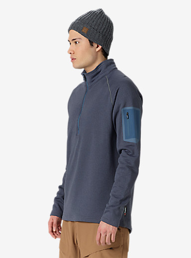 Burton [ak] Grid Half-Zip shown in Washed Blue Heather