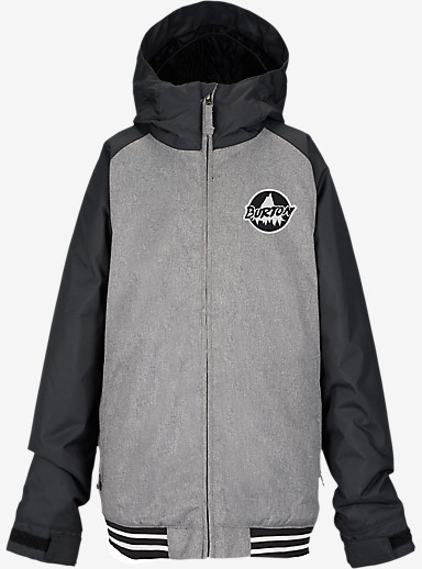 Burton Boys' Game Day Jacket shown in True Black / Heather Bog