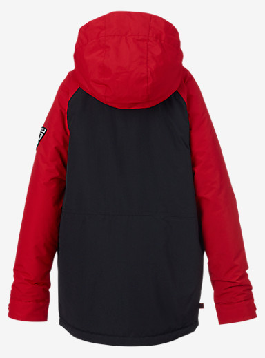 Burton Boys' Phase Jacket shown in True Black / Process Red