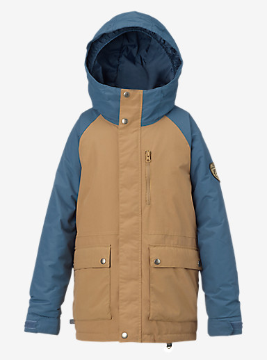 Burton Boys' Phase Jacket shown in Kelp / Washed Blue