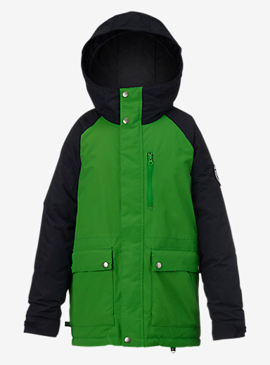 Burton Boys' Phase Jacket shown in Slime / True Black