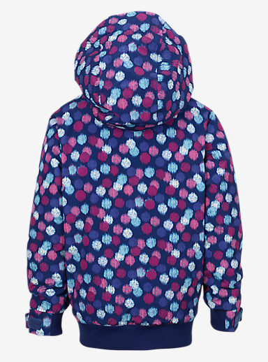 Burton Girls' Minishred Twist Bomber Jacket shown in Ikat Dot