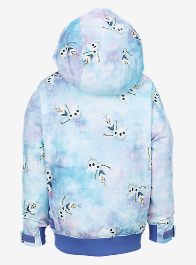 Disney Frozen Girls' Minishred Twist Bomber Jacket shown in Olaf Frozen Print © Disney