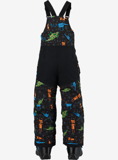 Burton Boys' Minishred Maven Bib Pant shown in Cyborgasaurus Rex