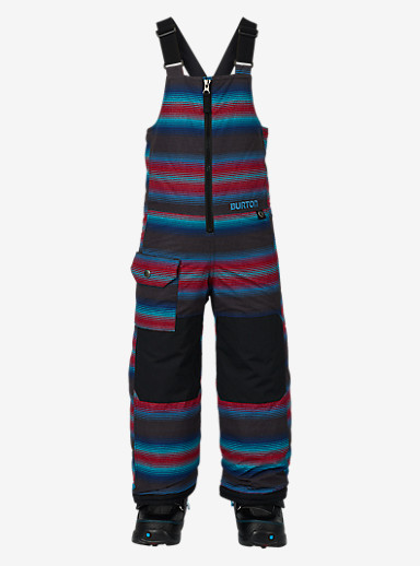 Burton Kids'' Minishred Maven Bib Pant shown in Seaside Stripe