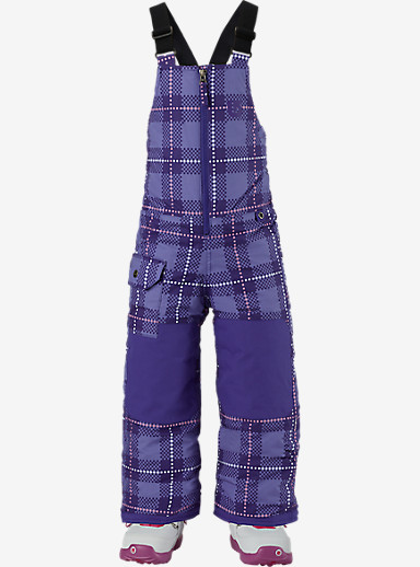 Burton Girls' Minishred Maven Bib Pant shown in Inky-Dinky Plaid