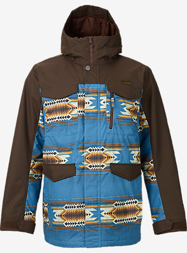 Burton Covert Jacket shown in Mocha / Glacier Sierra