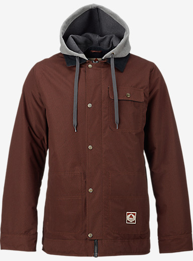 Burton Dunmore Jacket shown in Red Underpass Twill