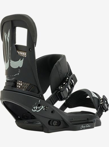 Burton Stay Calm EST Snowboard Binding shown in Darkness