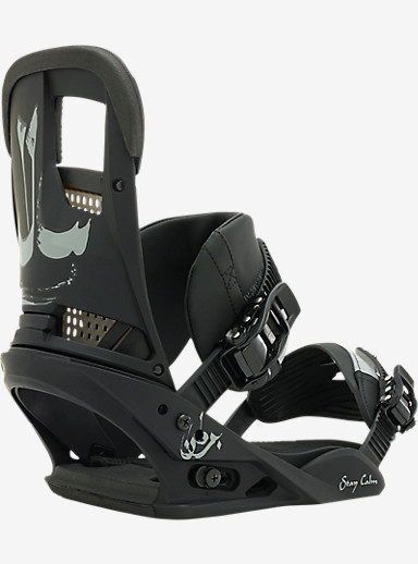 Burton Stay Calm Snowboard Binding shown in Darkness