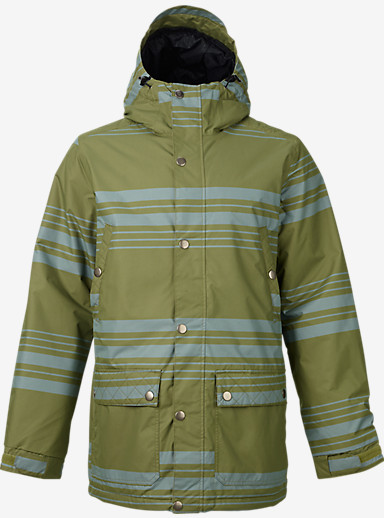 Burton TWC Greenlight Jacket shown in Algae Belmont Stripe