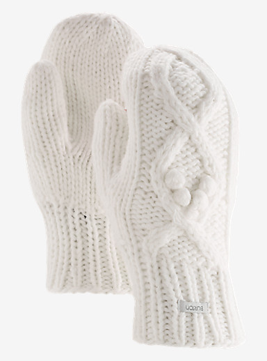 Burton Chloe Mittens shown in Stout White