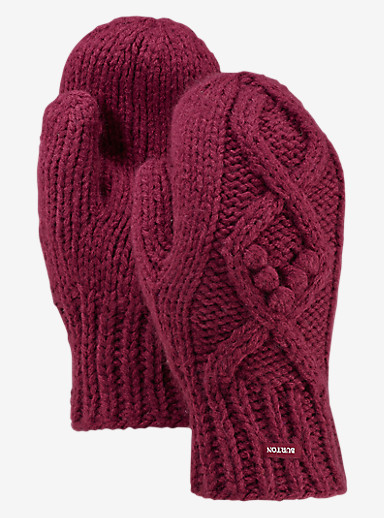 Burton Chloe Mittens shown in Sangria