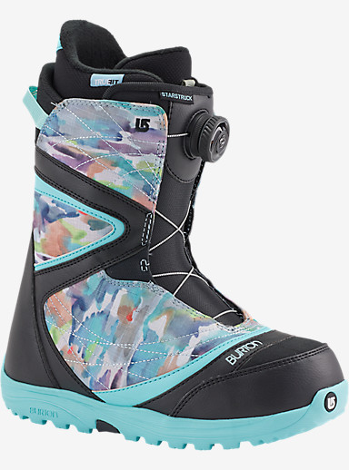 Burton Starstruck Boa® Snowboard Boot shown in Black / Watercolor