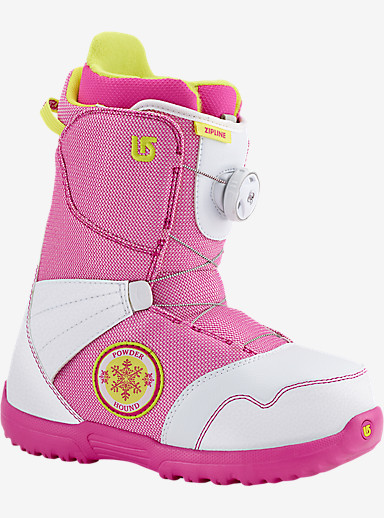 Burton Zipline Boa® Snowboard Boot shown in White / Pink