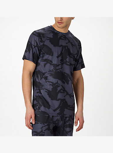 Burton Lightweight Tech Tee shown in True Black DPM Camo