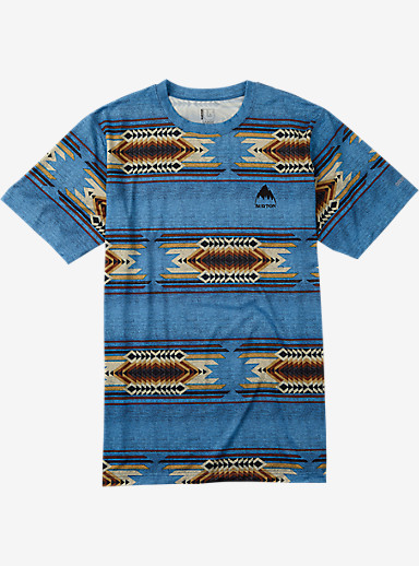 Burton Lightweight Tech Tee shown in Glacier Blue Sierra