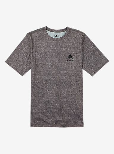 Burton Lightweight Base Layer Tee shown in Monument Heather