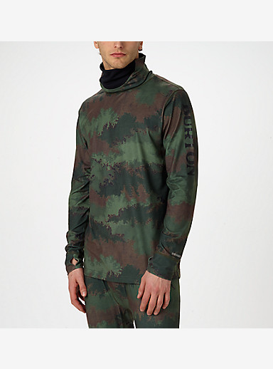 Burton Midweight Long Neck shown in Oil Camo