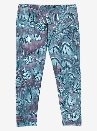 Burton Women's Midweight Capri shown in Feathers